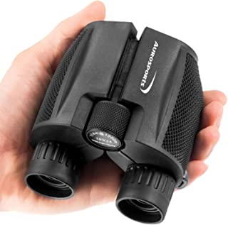 Aurosports 10x25 Folding High Powered Binoculars with Weak Light Night Vision Clear Bird Watching Great for Outdoor Sports...