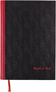 Black n' Red Casebound Hardcover Notebook, Large, Black, 96 Ruled Sheets, Pack of 1 (D66174)