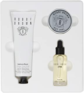 Bobbi Brown The Bobbi Glow Skincare Trio Set with Extra Face Oil, Radiance Boost Superfine Walnut Grain and Orange Oil Exfoliating Mask and Tinted Lip Balm