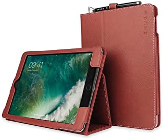 """Snugg iPad Air 3 (2019) / iPad 10.2"""" (7th Gen) / iPad Pro 10.5"""" Leather Case, Flip Stand Protective Cover - Dusty Cedar Red"""