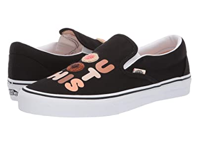 Vans Vans x Breast Cancer Awareness Collab Sneaker Collection ((Breast Cancer) You Got This/True White (Classic Slip-On)) Athletic Shoes