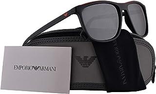 165733b85f Emporio Armani EA4109 gafas de sol w/lente gris claro Espejo Negro 57mm  50426G EA