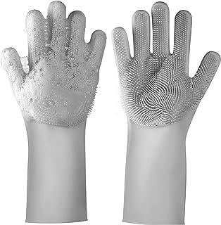 دستکش نظافتی خانگی ، برای ظرفشویی ، نظافت آشپزخانه ، حمام ، حیوانات اهلی ، شستشوی اتومبیل ، تمیز کردن پنجره (خاکستری)