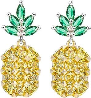 9694d1e17 Pendientes Piña Fruta Forma Cristal Strass Piedras
