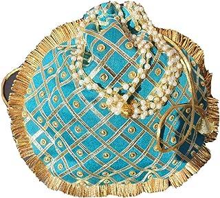 Handgefertigte Damen-Handtasche aus indischer Rohseide für Party, Hochzeit, Clutch, traditionell