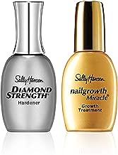 Sally Hansen Diamond Strength Instant Nail Hardener and Sally Hansen Nailgrowth Miracle Serum, Nail Kit, Pack of 2