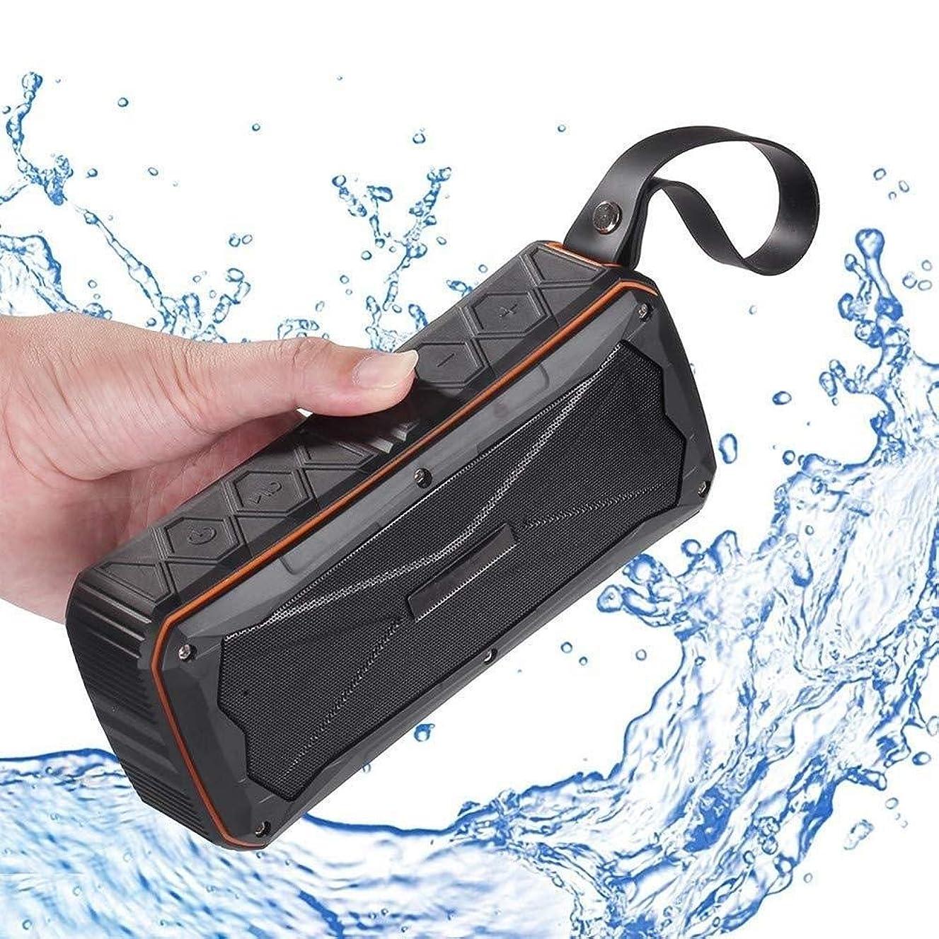 帽子疎外中絶IP66防水ブルートゥーススピーカーポータブルV4.1ミニスピーカーサブウーファーワイヤレスハンズフリー通話屋外スピーカー (色 : 黄)
