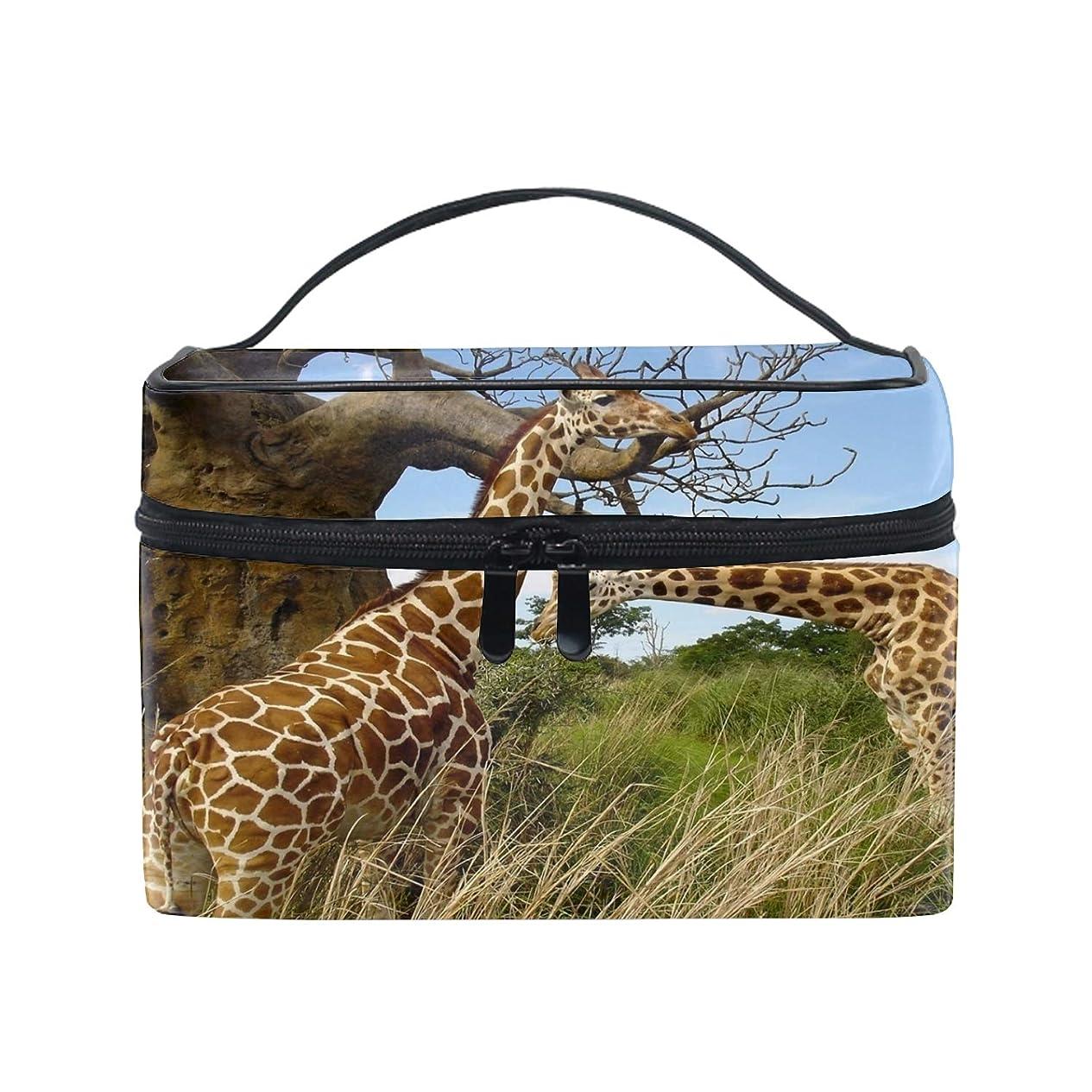 博物館不機嫌マオリ可愛いユニークポーチ 小物入れ動物キリン 軽量 防水 旅行も便利 撥水する防水ポーチ