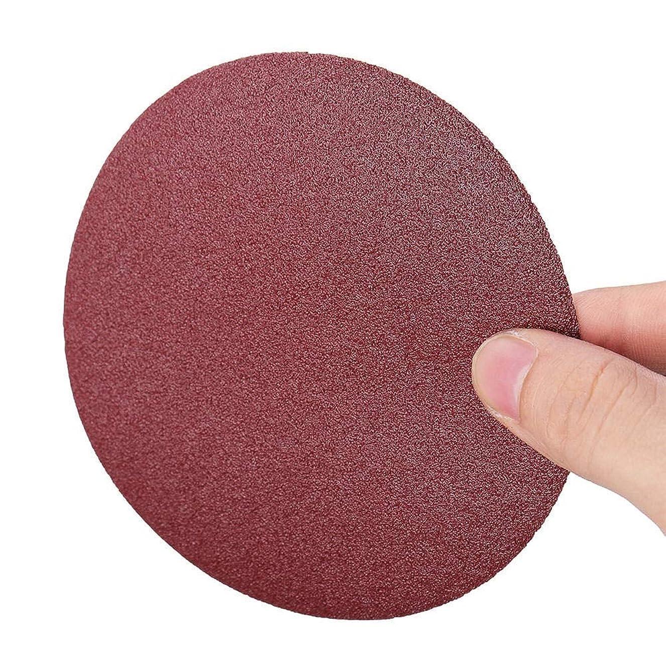 大きい重さ規制するZGQA-GQA 工業用研磨剤の100pcs 5インチの研磨紙やすりディスク100グリットラウンドフックとループフロッキング