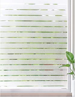 Window Films Glue-Free Frosted, 3D Static Decorative Privacy Glass Film, UV-Resistant Heating Control,for Home Kitchen Office