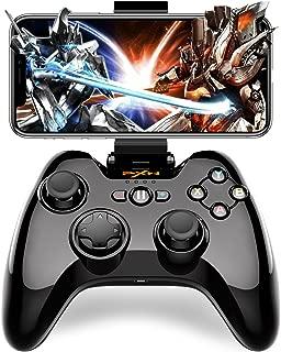 iPhone Bluetooth コントローラー Dinofire 専属無料APPあり Apple認証 MFi コントローラー Tello iPhone iPad iPod touch 対応 PUBGに非対応(黒)