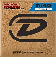 Dunlop DMN1140 Mandolin Strings, Nickel, Medium, .011–.040, 4 Strings/Set