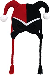 Batman - Harley Quinn Mask Peruvian Knit Hat Red
