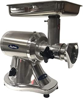 Alpha MM12N Commercial Meat Grinder Mincer - Stainless Steel Feed Pan with 2