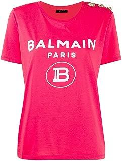 Balmain Luxury Fashion Womens TF11350I386OAG Fuchsia T-Shirt  