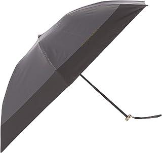 [ジルスチュアート] AURORA(オーロラ) 1JI 17738-38 リボンストラップつきバイカラーオールシーズン傘 おりたたみ傘 レディース ブラック 日本 親骨55㎝ (FREE サイズ)