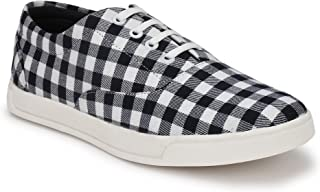 HEEDERIN Men's White Black Mesh Lace up Perfect Style Sneaker 7 UK