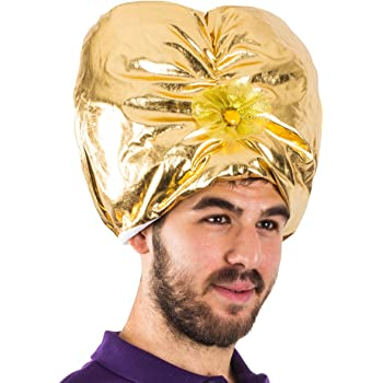 Funny Party Hats Sultan Hat - Genie Hat Costume - Swami Costume - Sultan Turban - Arabian Hat - Sultan Costume