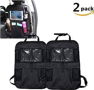 DW Car Seat Back Organiser, Waterproof Multi Purpose Back Seat Storage Bag Kick Mats Car Organisers