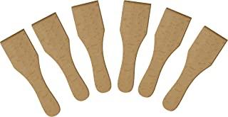 BICB Wooden Raclette Spatula for Non-stick Pans | Baking Utensils Set | Kitchen Tools & Gadgets - Great Bakeware for Cooki...