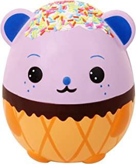 """Anboor 5.5"""" Squishies Jumbo Panda Egg Creamy Candy Ice Cream Slow Rising Scented Kawaii Squishies Animal Toy for Collectio..."""