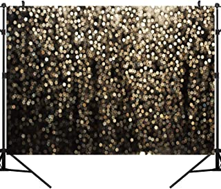 OUYIDA 10X8FT Vintage Astract Glitter Dot Studio Props Photography Background Gold Bokeh Spots Vinyl Backdrop for Birthday Party Pictures Photo Booth Shoot Festival Prom Dance Decor Wedding PCK45C