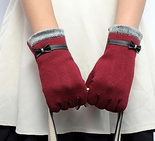 BEAUTYVAN, Womens Fashion Touch Screen Winter Warm Wrist Gloves Mittens (Red)