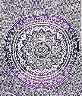 Purple Ombre tapestry Wall hanging College Dorm Tapestry Mandala Tapestry Dorm Decor Indian Hippie Tapestry Bohemian Bedspread Bedding Beach Tapestry Decor by RSG Venture
