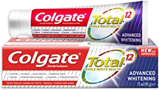 Colgate Total 12 Advanced Whitening Toothpaste, 75ml