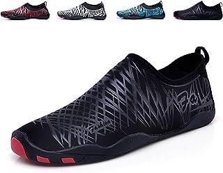 Unisex Zapatos de Agua de Natación Calzado de Secado Rápido Respirable Soles de Color Zapatos de Agua Piscina Playa