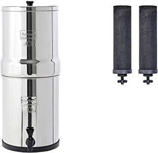 Travel Berkey Gravity-Fed Water Filter with 2 Black Berkey Purification Elements