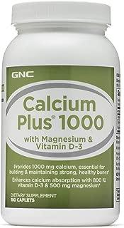 GNC Calcium Plus 1000, 180 Caplets