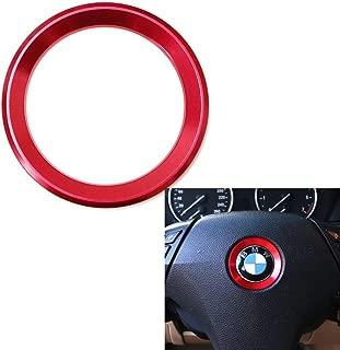Duoles Aluminum Steering Wheel Center Decoration Cover Trim for BMW 1 2 3 4 5 6 Series X4 X5 X6 (F20 F21 F22 F23 F30 F31 F32 F33 F35 F36 F10 F11 F12 F13 F26 F15 F16) (red)