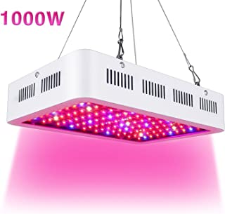 ARKNOAH 1000W LED Grow Light Full Spectrum for Greenhouse Hydroponic Indoor Plants Seeding/Growing/Flowering with Double Chips Growing Bulbs (White)