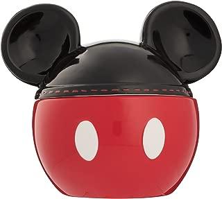 Vandor 89042 Disney Mickey Mouse Sculpted Ceramic Cookie Jar, Red, Black