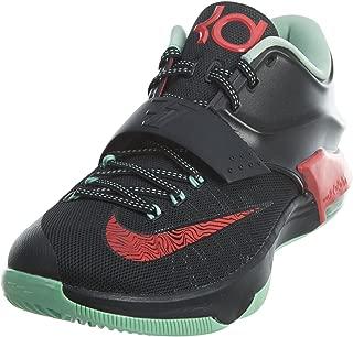 KD VII Men Round Toe Synthetic Black Basketball Shoe