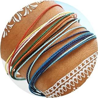 Braided Rope Bracelet Set Handmade Waterproof Wrap Bracelet String Bracelet for Woman Kids