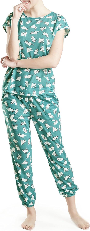 Ink+Ivy Lounge Women Pajamas Set  Pajamas for Women, Short Sleeve and Jogger Pants Sleepwear Set