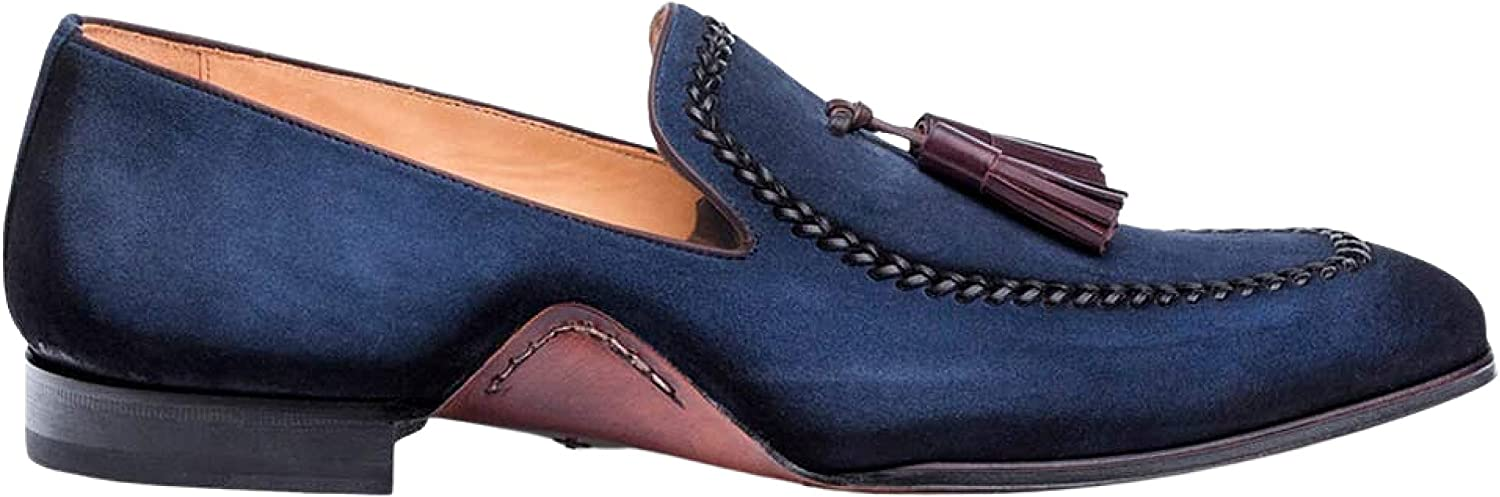 Mezlan Plazza Mens Challenge the lowest price Luxury Italian Sued - free Loafers Antiquated Rich