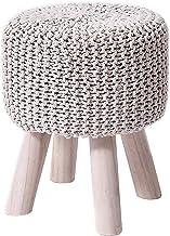 ZTCWS Modern Design Organic Textile Kleine Ronde Ottomaanse Foot Rest Kruk Voor Vanity Make-Up Table Woonkamer Slaapkamer ...