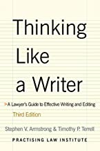 Thinking Like a Writer: A Lawyer's Guide to Effective Writing & Editing PDF