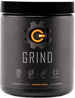 Grind - Pre Workout Energy w/Joint Support & BCAA Recovery (Mandarin Orange) Powder (30 Servings)