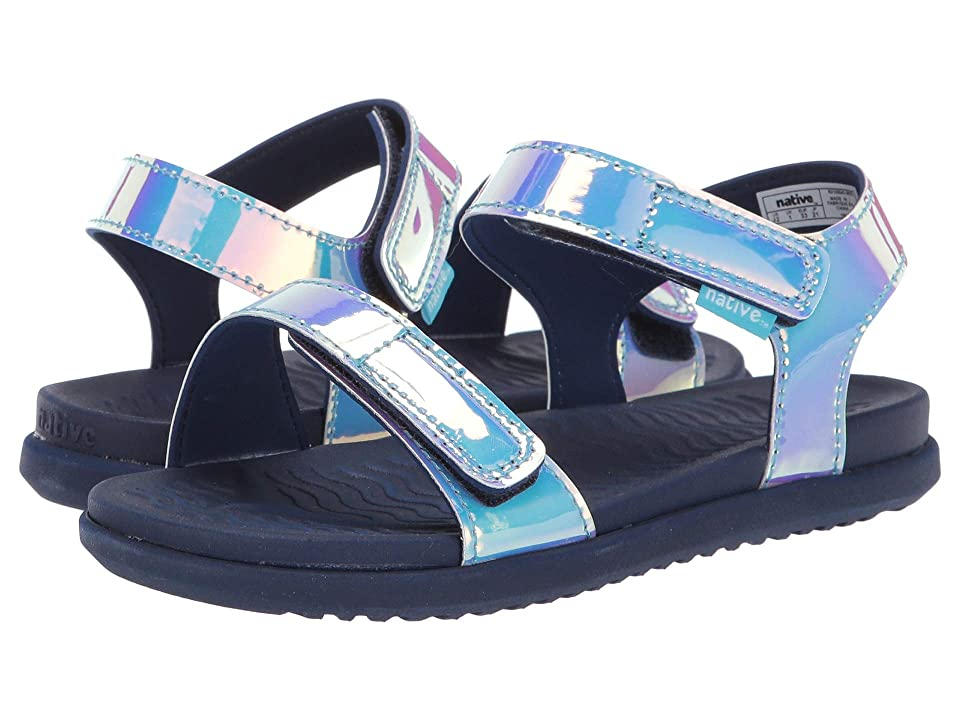 Native Kids Shoes Charley Hologram (Little Kid) (Blue Hologram/Regatta Blue) Girl