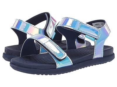 Native Kids Shoes Charley Hologram (Little Kid) (Blue Hologram/Regatta Blue) Girl