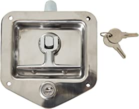 Buyers Products L8815 Stainless Single Point T-Handle Latch with Mounting Holes