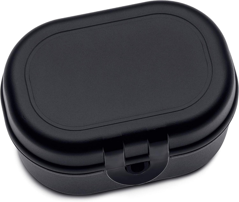 Koziol Pascal Mini, Breakfast Box, Lunch to go, Meal Prep, Cosmos Black, 96x70x52 mm