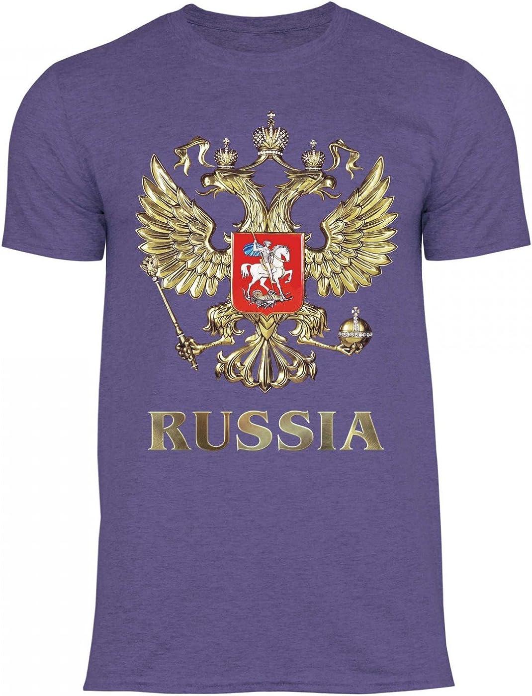 Armoiries de la Russie Drapeau russe en langue russe T-Shirt