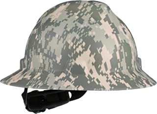 MSA 10104254 V-Gard Slotted Full Brim Hard Hat,  with 4-point Fas-Trac III Suspension, Standard, Camouflage
