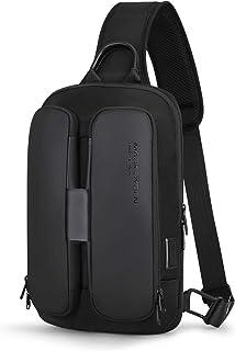 Bolso Bandoleras Hombre Markryden Impermeable con Puerto de Carga USB, Casual Rucksack Antirrobo para Escalada Bolsa de Pecho Hombre,Puede Contener MacBook de 9.7 Pulgadas