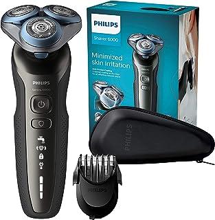 Philips S6640/44 Series 6000 - Afeitadora eléctrica en seco y húmedo con sistema de corte MultiPrecision y recortador de barba SmartClick